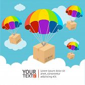 image of parachute  - Vector illustration - JPG