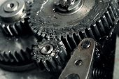 image of lubricant  - Lubricated gears of vehicular transmission - JPG
