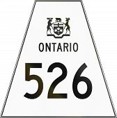 stock photo of trapezoid  - Canadian highway shield of Ontario highway number 526 - JPG
