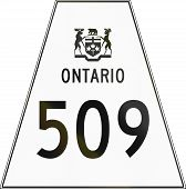 picture of trapezoid  - Canadian highway shield of Ontario highway number 509 - JPG