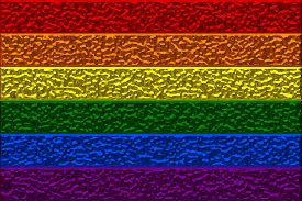 picture of transgendered  - Chrome Lesbian Gay Bisexual Transgender LGBT freedom flag with a hammered metal textured effect - JPG