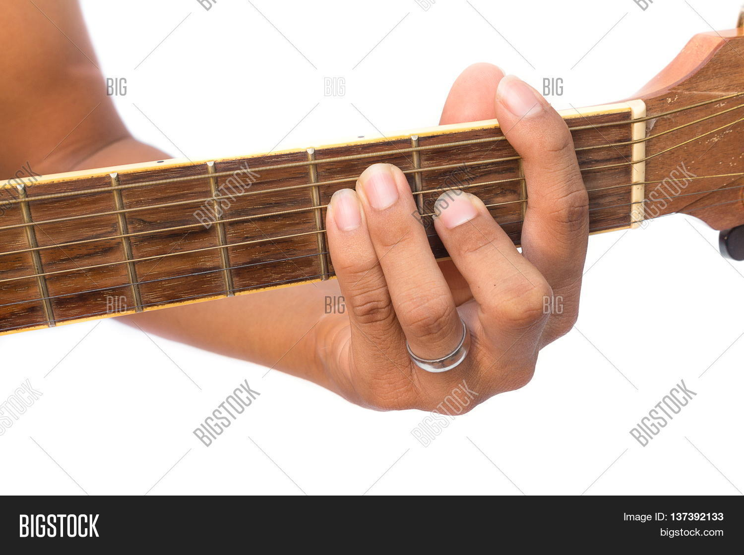 Acoustic guitar guitarist playing image photo bigstock musical instrument with performer hand f major chord hexwebz Gallery