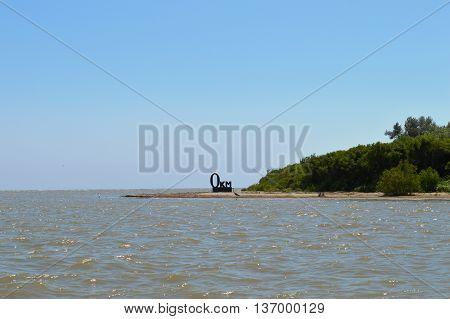 Zero kilometer of the Danube River. The place where river meets the sea.