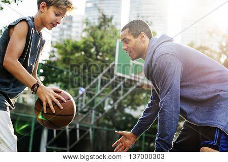 Basketball Player Athlete Exercise Sport Stadium Concept