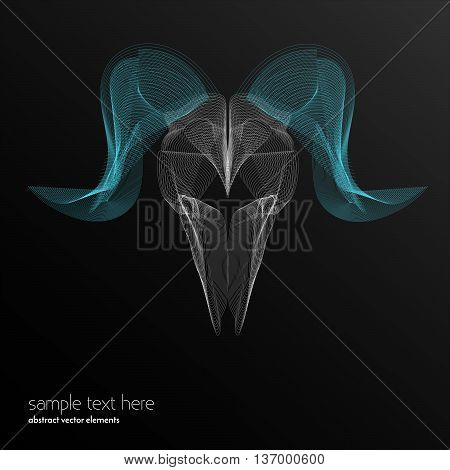 Vector abstract waves and lines background. Curvy design element. Ram made with blend effect. Desktop wallpaper.
