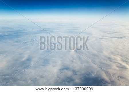 Clouds viewed from the sky