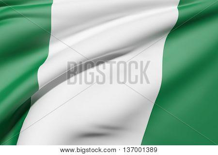 Federal Republic Of Nigeria Flag Waving