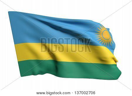 Republic Of Rwanda Flag Waving