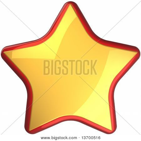 Golden star rating symbol