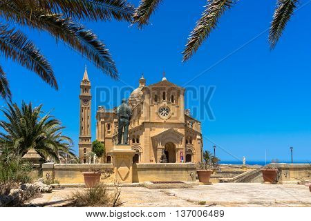 Ta' Pinu is a Roman Catholic minor basilica and national shrine located some 700 metres from the village of Għarb on the island of Gozo the sister island of Malta.