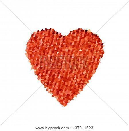 abstract red heart with polygonal mosaic on a white background. the concept of love Valentine's day