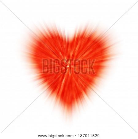 abstract red heart on a white background. the concept of love Valentine's day