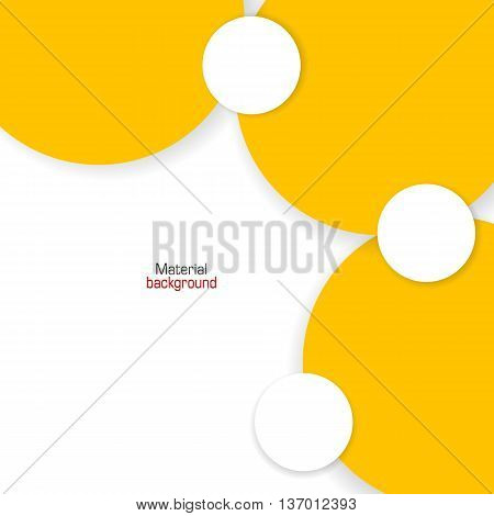 Background Unusual modern colored material design. Yellow backdrop for web and mobile applications and sites. Vector Illustration.