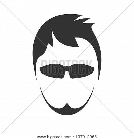 Young men's haircut icon. Isolated on background. Vector illustration.