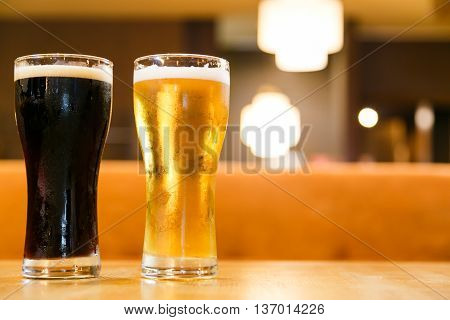 Cold alcoholic beverages by the glass pint for men