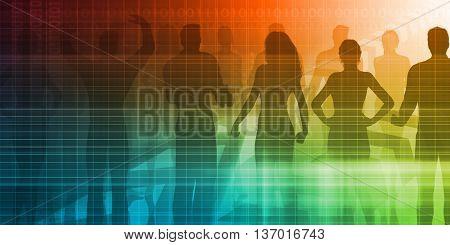 Personnel Management as a Presentation Background Art 3d Illustration Render