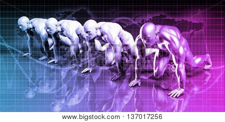 Technology Concept with a Data Information Online 3D Rendering
