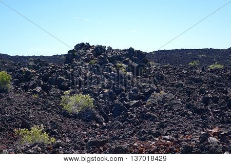 Some of the lava flows at Craters of the Moon National Monument in Idaho are as recent as two thousands years in age.