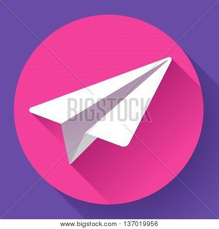 Aircraft vector logo icon Flat 2.0 design style.