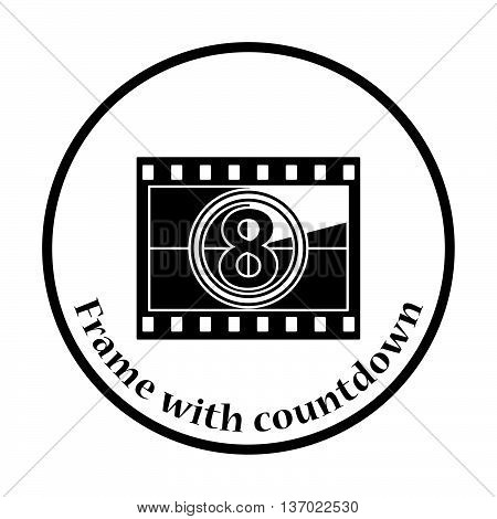 Movie Frame With Countdown Icon
