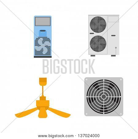 Industrial fan vector illustration.