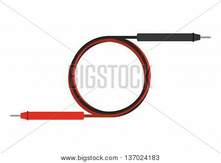 cable electrical tester isolated icon design, vector illustration  graphic