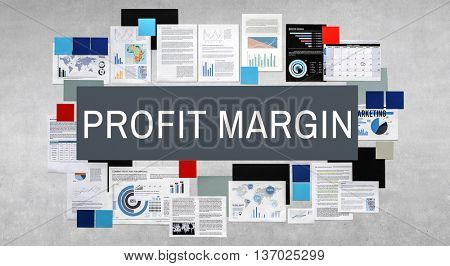 Profit Margin Revenue Calculation Concept