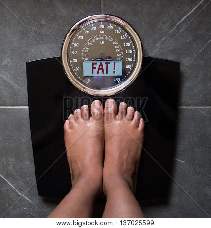 the bathroom scales that speaks to you and tells you the truth by writing it on the screen: you're fat