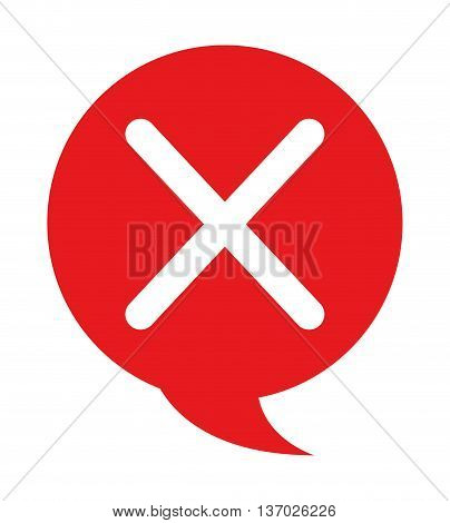 speech bubble with denied symbol  isolated icon design, vector illustration  graphic