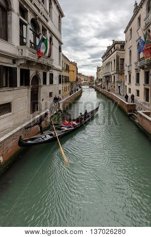 Gondola On The Rio De San Trovaso In Venice