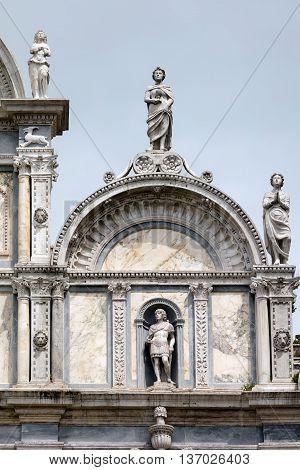Facade Of The Scuola Grande Di San Marco In Venice