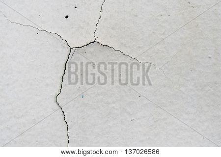 Close up old paint on concrete floor