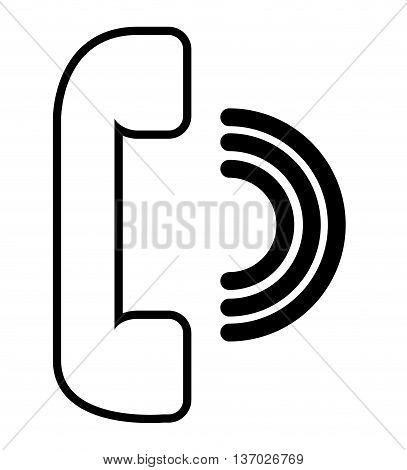 phone speaker isolated icon design isolated icon design, vector illustration  graphic