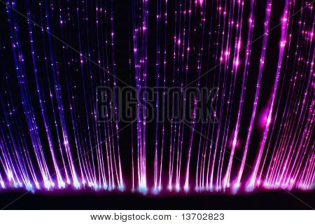 Fiber optic light cables.