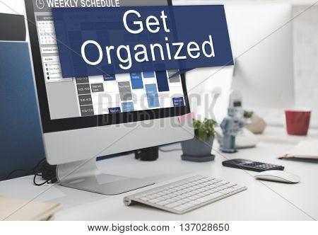 Get Organized Management Set Up Plan Concept