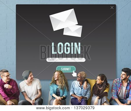 Log-in Enter Join Register Registry Subscribe Concept