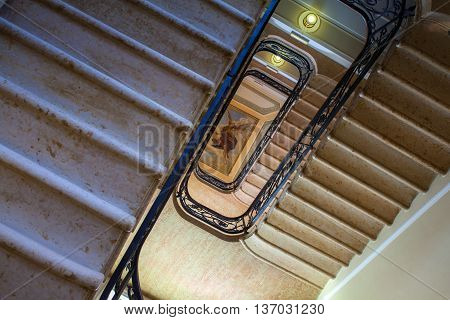 BELLAGIO, ITALY - JUNE, 12: View of a painting from the staircase on june 12, 2016
