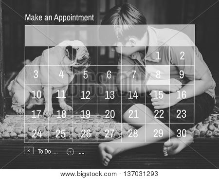 Calendar Agenda Appointment Meeting Memo Plan Concept