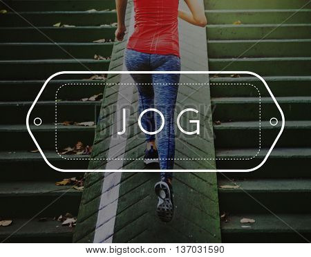 Jog Jogger Jogging Run Rush Active Hurry Exercise Concept