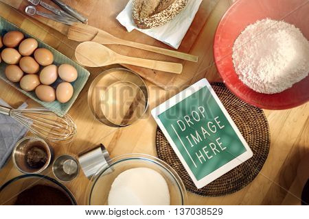 Baking Bakery Cooking Tablet Recipe Concept