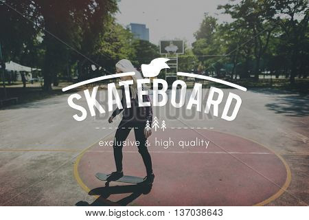 Skate Skateboard Skateboarder Skateboarding Concept