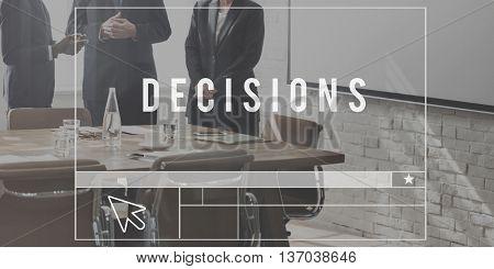 Decisions Option Choice Verdict Concept