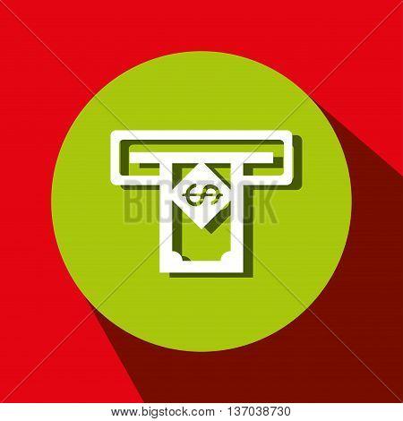 money dispenser isolated icon design, vector illustration  graphic