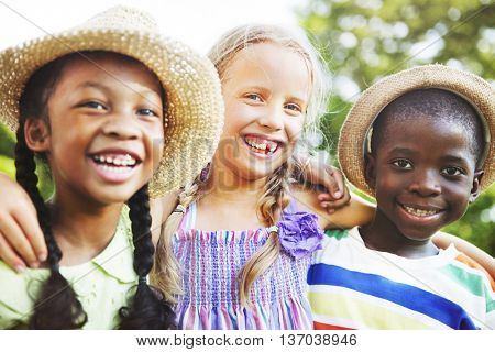 Kids Enjoyment Happiness Smiling Playful Concept