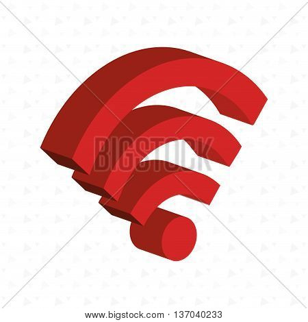 isometric signal wifi isolated icon design, vector illustration  graphic