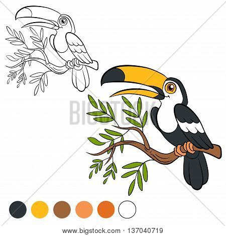 Coloring Page. Color Me: Toucan.