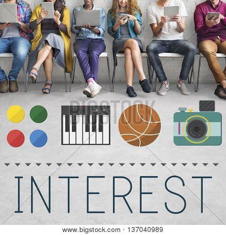 Interest Hobbies Leisure Activity Pleasure Pursuit Concept