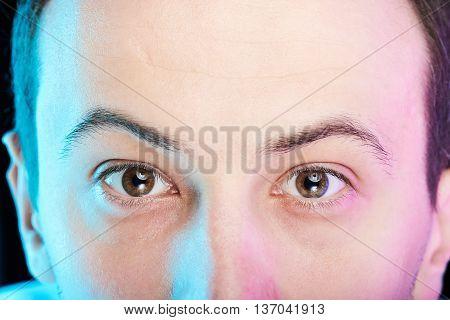 Close Up Of Man Eyes