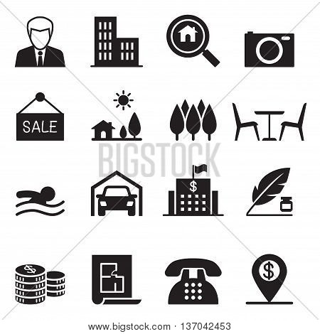 Real estate icons set  vector illustration graphic design