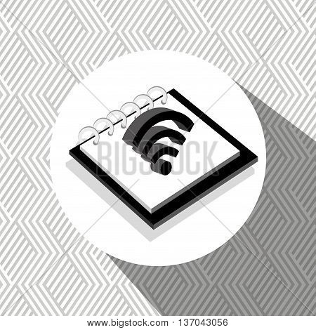 memo pad isolated icon design, vector illustration  graphic
